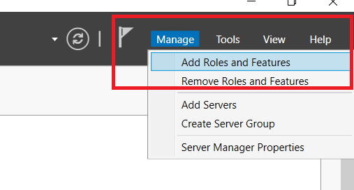 Windows Server 2019 Add Roles and Features
