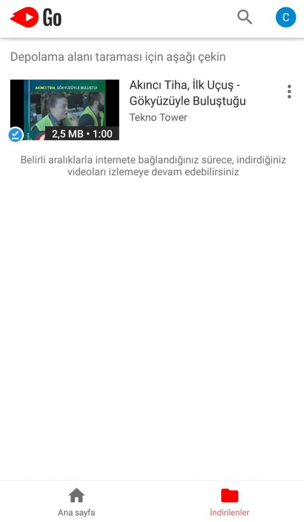 youtube go kitaplık