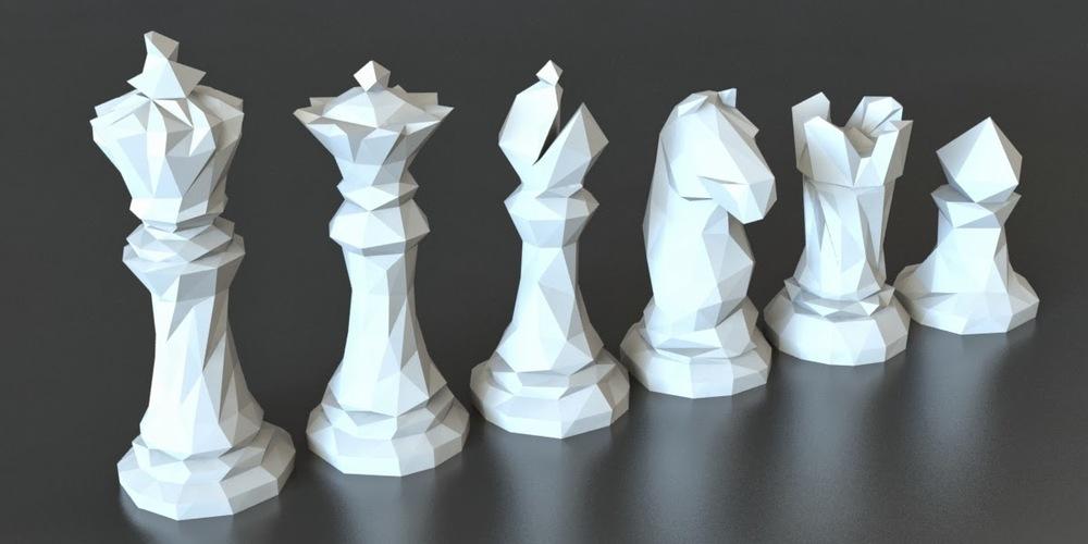 3D satranç taşları