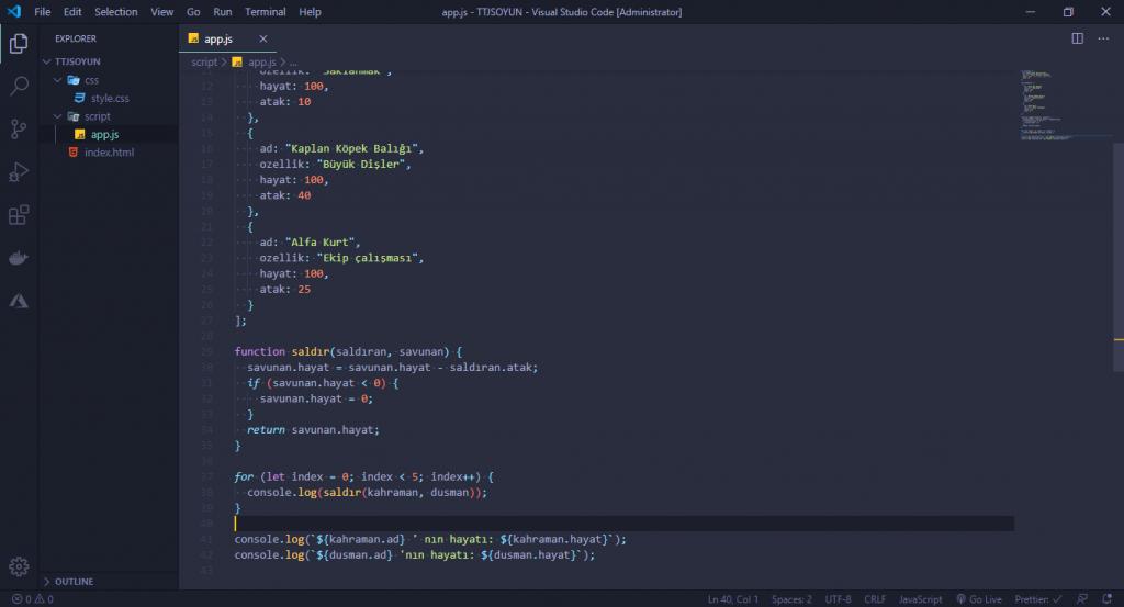 JavaScript Dersleri! #2 - Oyun Yapıyoruz 9 javascript dersleri