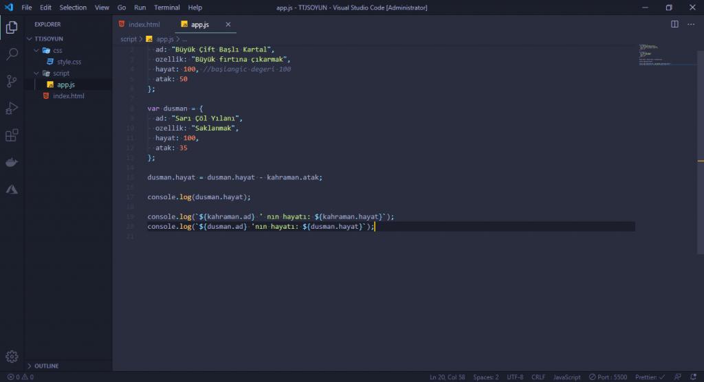 javascript görselleri object