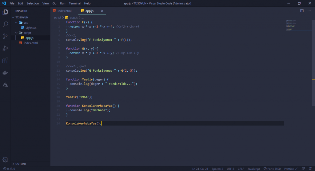 JavaScript Dersleri! #2 - Oyun Yapıyoruz 4 javascript dersleri