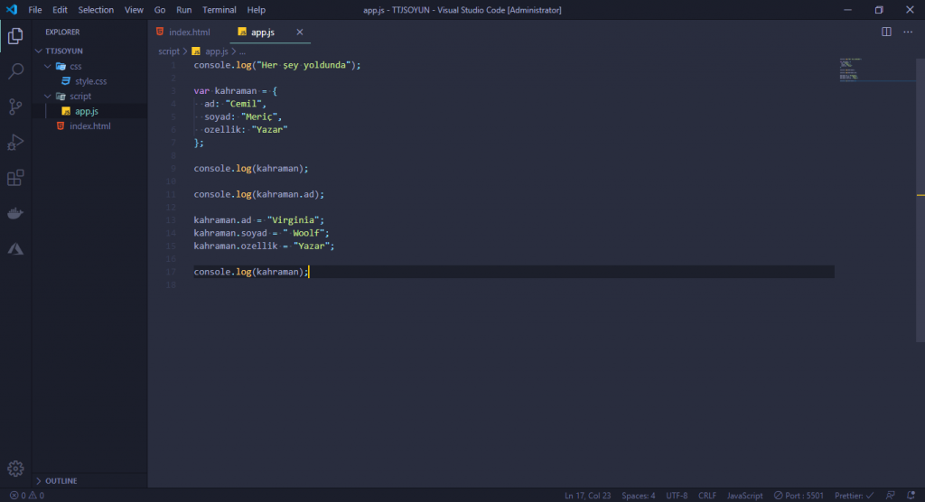 JavaScript Dersleri! #2 - Oyun Yapıyoruz 1 javascript dersleri