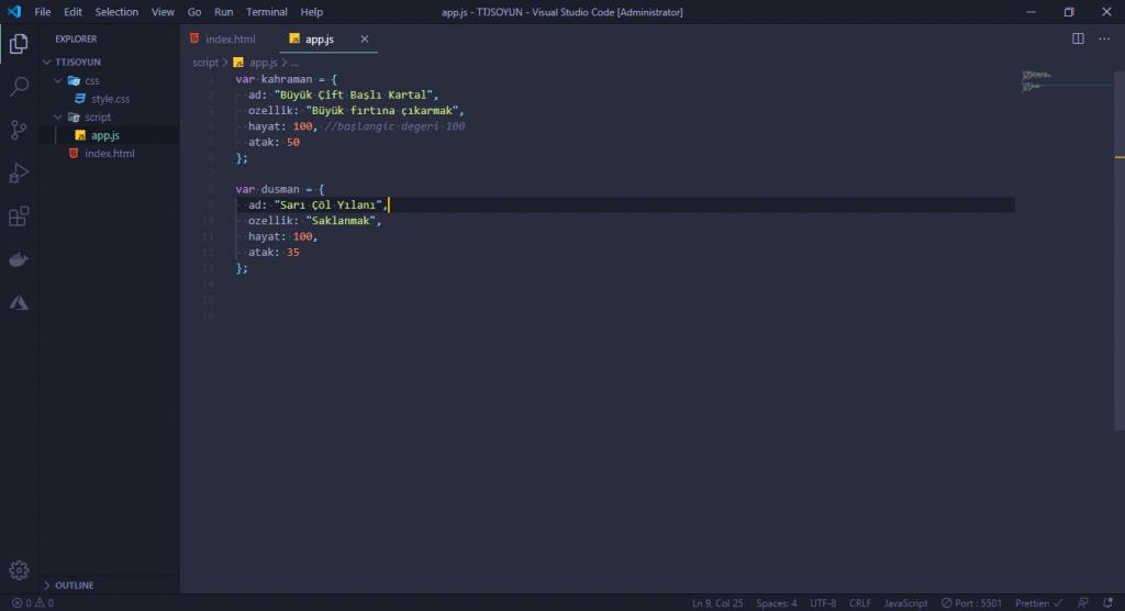 JavaScript Dersleri! #2 - Oyun Yapıyoruz 3 javascript dersleri
