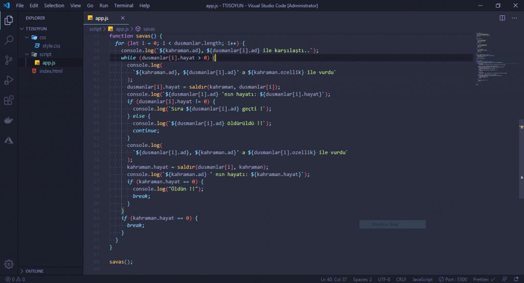 JavaScript Dersleri! #2 - Oyun Yapıyoruz 10 javascript dersleri
