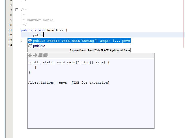 NetBeans Kod Tamamlama Nasıl Yapılır? 2020 2 netbeans kod tamamlama