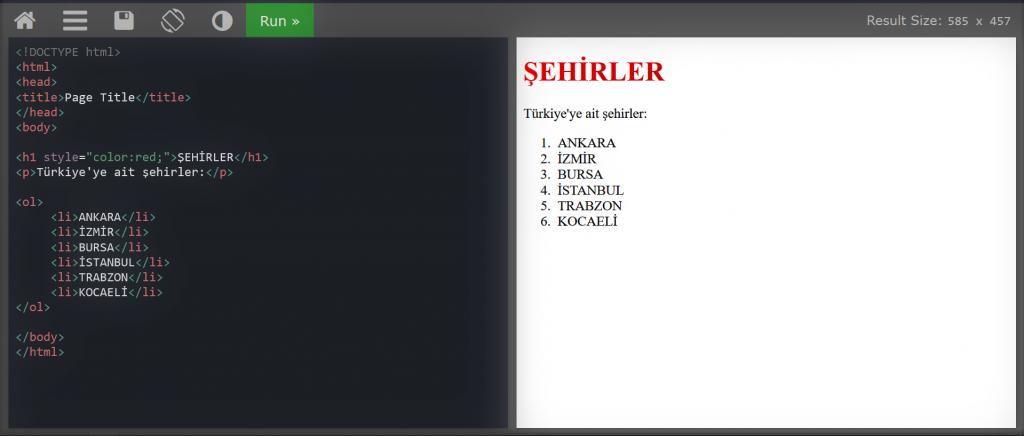 HTML DERSLERİ #2-ol