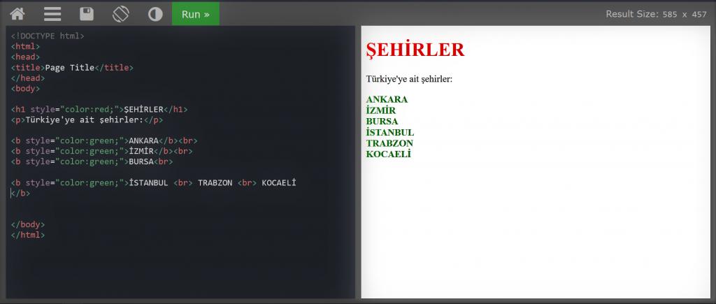 HTML DERSLERİ #2-style