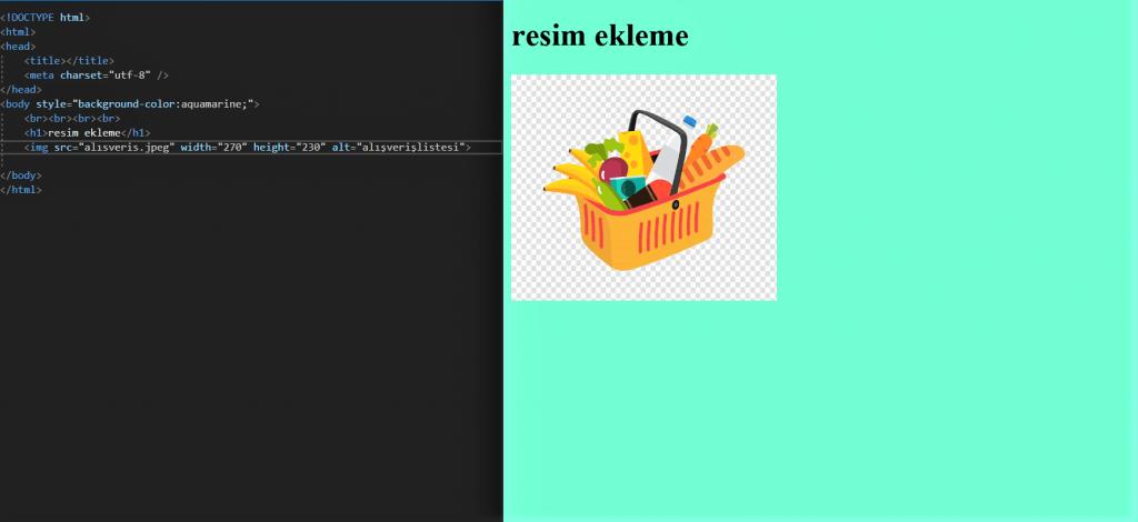 HTML DERSLERİ 4 resim ekleme