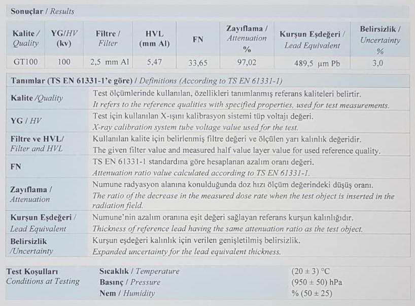 ANTİ-RAD : X Işınlarından Koruyan Kumaş 1 ANTİ-RAD