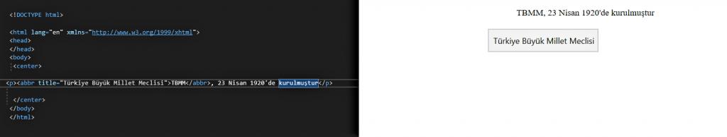 HTML DERSLERİ 5 4 HTML DERSLERİ 5