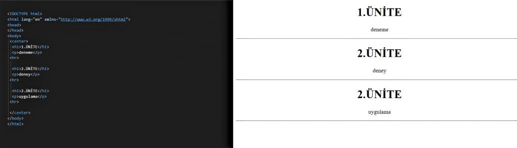 HTML DERSLERİ 5 5 HTML DERSLERİ 5