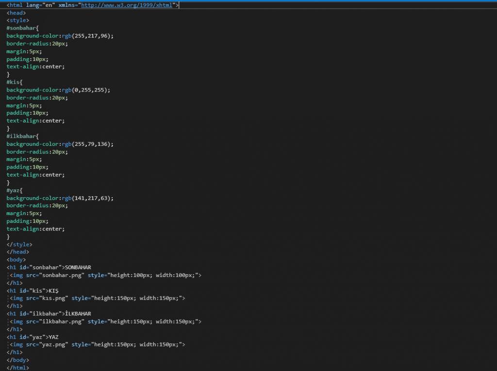 HTML DERSLERİ 7 2 HTML DERSLERİ 7