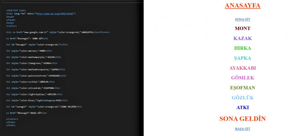 HTML DERSLERİ 7 4 HTML DERSLERİ 7