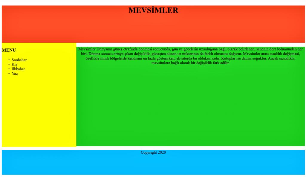 HTML DERSLERİ 6 6 HTML DERSLERİ 6